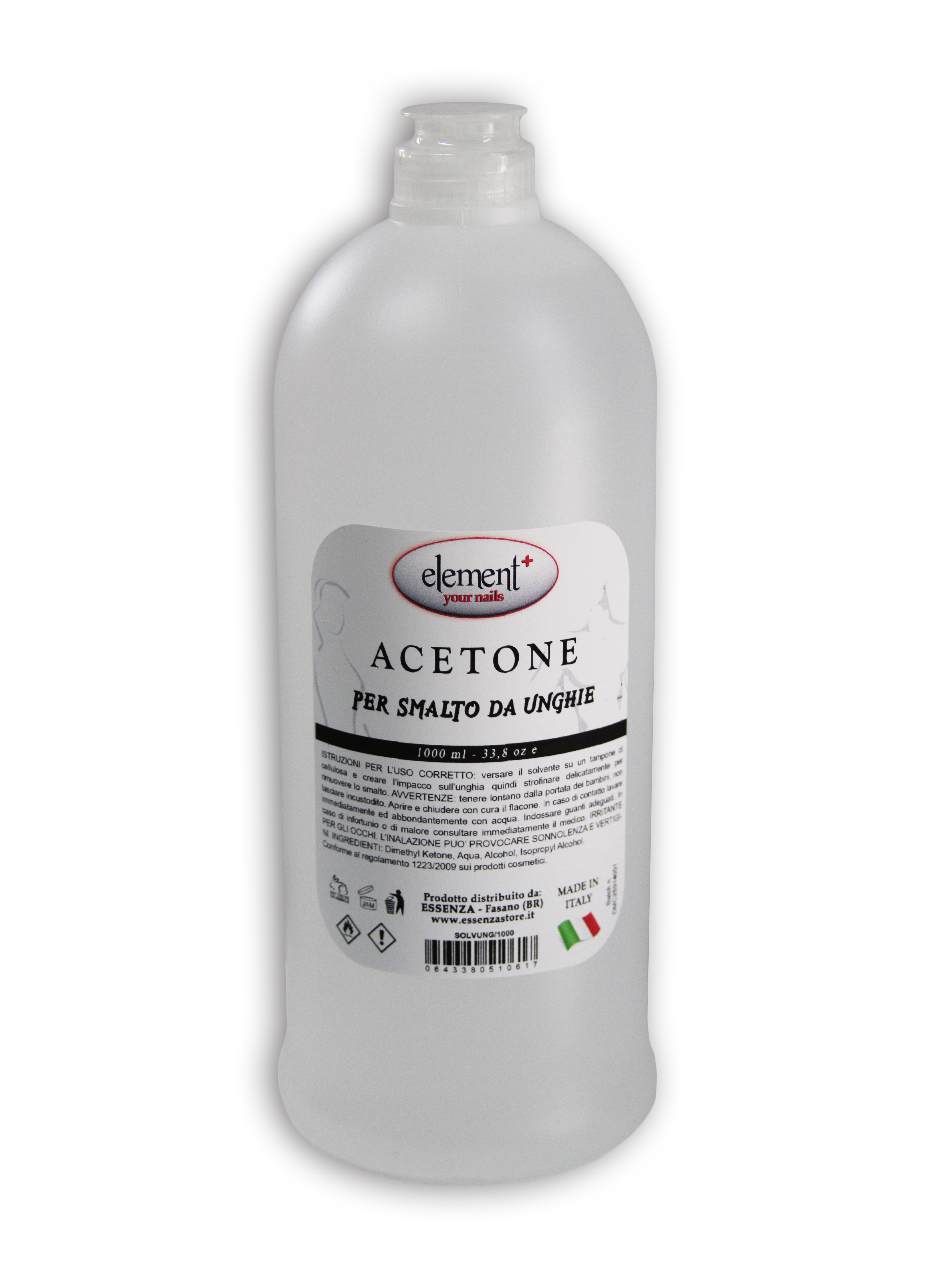 Solvente Element per Unghie con Acetone ml 1000